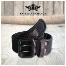 EXTREMA BIG  & TALL Double Rivet Canvas Belt EB36 (Black)