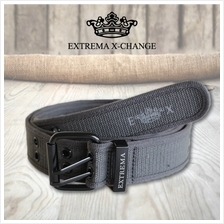 EXTREMA BIG  & TALL Full Rivet Canvas belt EB16 (Grey)