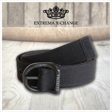 EXTREMA BIG  & TALL Canvas Belt with Rivet EB15 (Black)