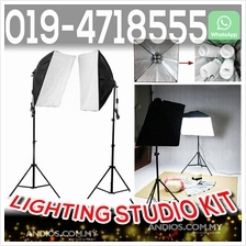 Studio Lighting Softbox Light+4 Socket Lamp Holder_Box Lampu Equipment