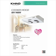 NEW KHIND KH988H Cooker  Stainless Steel Hood with 2 Speed Control