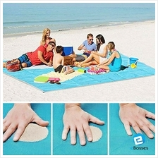 Polyester Magic Beach Towel 2 Layers Sand Free Anti Sand Mat (200x150c