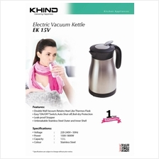 Khind Jug Kettle EK15V with Double Wall Vacuum Retains Heat