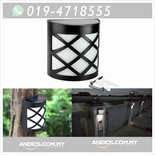 Outdoor Solar Power LED Path Way Wall Garden Fence Light Lampu Taman