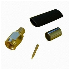 SMA MALE Crimp Connector for RG58 & LMR200
