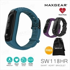 MAXGEAR Smart Watch SW118HR Heart Rate Smartband Fitness MI Band