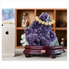 Feng Shui Natural Amethyst Crystal Cave Purple Crystal