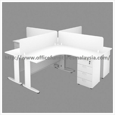 6ft x 5ft Full White Partition 4L Table Set OFHJ1815 Meja