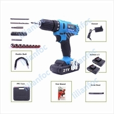 VOTO Tool Cordless Drill Electric Screwdriver ~ 2 Batteries + PVC Case