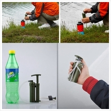 Portable Outdoor Water Filter Purify Pump Outdoor Survival Hiking Camp..