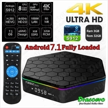T95Z Plus 3GB 32GB Amlogic S912 Octa Core Android 7.1 OS Smart TV Box