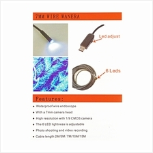 5M 6 LED USB Waterproof Endoscope Borescope Snake Inspection Video Cam..