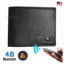 Smart Bluetooth Anti-theft Slim Wallet Cowhide Leather Bifold Purse