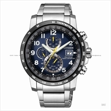 CITIZEN . AT8124-91L . Eco-Drive . M . Radio-Controlled . SSB . Blue