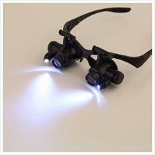10X 15X 20X 25X LED Glasses Jeweler Magnifier Watch Repair Magnifying ..