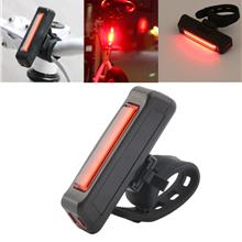 USB Rechargeable Bike Bicycle Light Rear Back Safety Tail Light Red Ne..