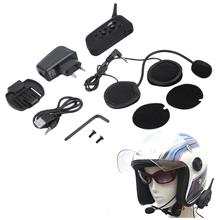 V6 1200m Bluetooth Intercom for Motorcycle Helmet Headset Interphone