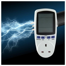 UK Plug Energy Meter Watt Volt Voltage Electricity Monitor Analyzer