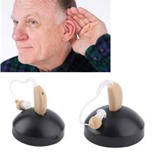 Rechargeable Hearing Aids Sound Voice Amplifier Behind The Ear EU Plug