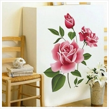 Rose Flower Wall Stickers Removable Decal Home Decor DIY Art Decoratio..