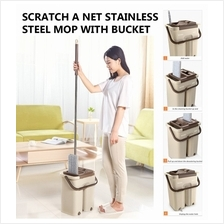SCRATCH A NET  STAINLESS STEEL MOP WITH BUCKET / NEW MOP