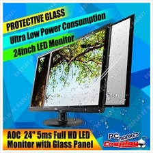 AOC 24 inch Full HD LED Monitor with Glass Panel