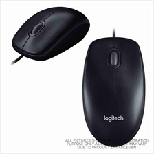 LOGITECH M100R WIRED USB OPTICAL MOUSE (910-005005) BLK