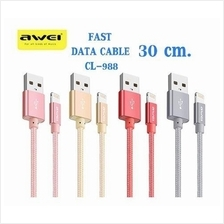 Awei CL-988 30cm Lightning Iphone Charging Data Transfer SHORT Cable