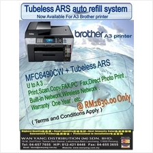 MFC 6490CW New Brother  A3 Inkjet printer  + Tubeles ARS system,