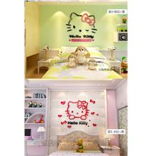 Hello Kitty 3D Acrylic Wall Sticker