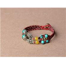 YN-7598High quality natural turquoise bracelet trinkets