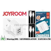 JOYROOM L-M220 3.1A Dual USB Wall Charger + Lightning 8pin USB Cable f