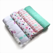 Baby Flannel Receiving Blanket 4pcs Pack