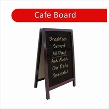 Cafe Board Coffee Shop Menu 2 Side Wood Chalkboard Blackboard