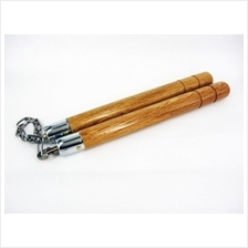 Natural Wood Nunchaku With Training CD