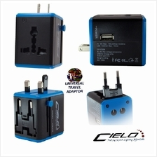 New CIELO All-In-One Universal Travel Power Adapter With 5V USB Port