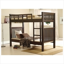 TERESA Wooden Solid Wood Single Double Decker Wright Single Bunk Bed