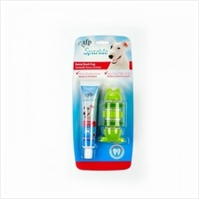 All For Paws Sparkle Dental Brush Frog with Toothpaste
