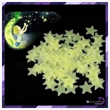 200 pcs/Set Bedroom Glow In The Dark Stars Wall Stickers Art 3D