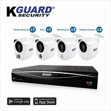 KGuard HD1681-8KT01 Hybrid Security System with Alarm