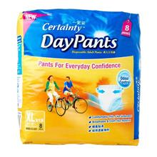 Certainty Daypants Adult Diapers Pants XL 8pc