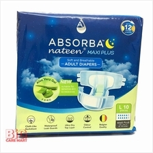 Absorba Nateen Maxiplus Adult Diapers L Size 10pc