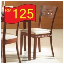 4pc LIANA Solid Wood Cushion Seat Dining Chair Kerusi Makan