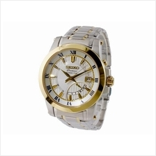 SEIKO Premier Kinetic Silver & Gold Tone SRN040P1 Mens Watch