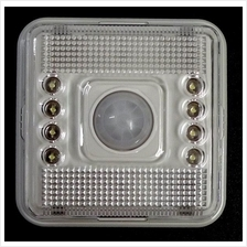 Motion Sensor 8 LED Light Lamp PIR Infrared Auto