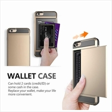 Iphone 7 8 plus Slide Wallet Credit Card Slot PC Phone Case Cover