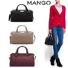 2017 Mng Mango Quilted Bucket Bowling Tote Bag