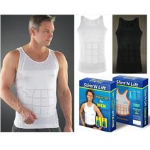 2 Color Slim n Lift Body Shaper Vest Slimming Shirt Men