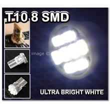 WHITE T10 8 SMD Bulb HID Xenon Bright LED 501 W5W DAYTIME RUNNING LIGH