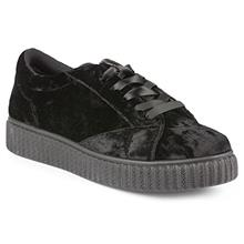 Twisted Womens Olivia Velvet Platform Creeper Fashion Sneaker - OLIVIA